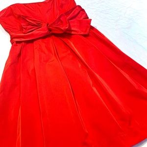 THEORY Strapless Red Dress